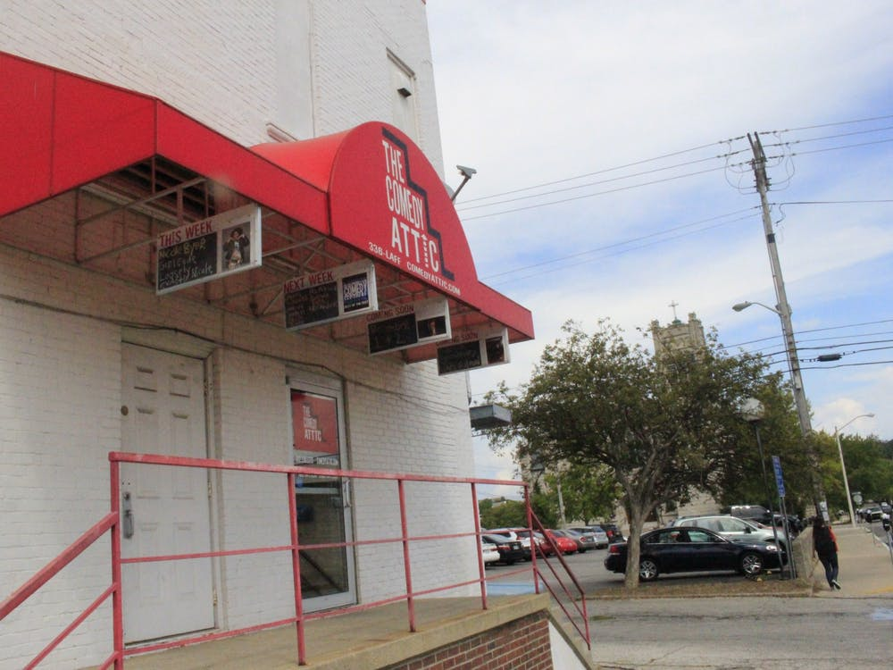 The Comedy Attic is located at 123 S. Walnut St. The comedy club will operate at a 50% capacity and will follow strict guidelines to help decrease the spread of COVID-19.