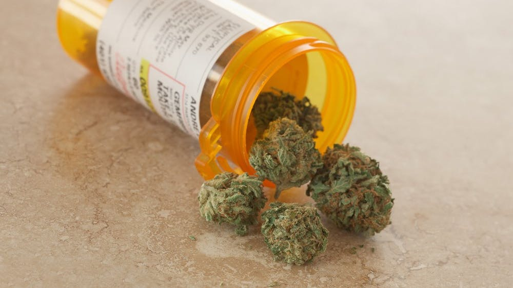 Medical marijuana in a prescription bottle.