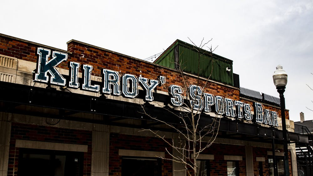 Kilroy's Sports Bar stands without its lights on March 9, 2020, on Walnut Street. Kilroy's Sports announced Jan. 30  it will reopen this spring.