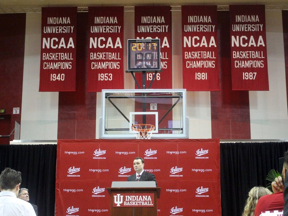 New IU men's basketball head coach Archie Miller addresses the media in a press conference on Monday, March 27.