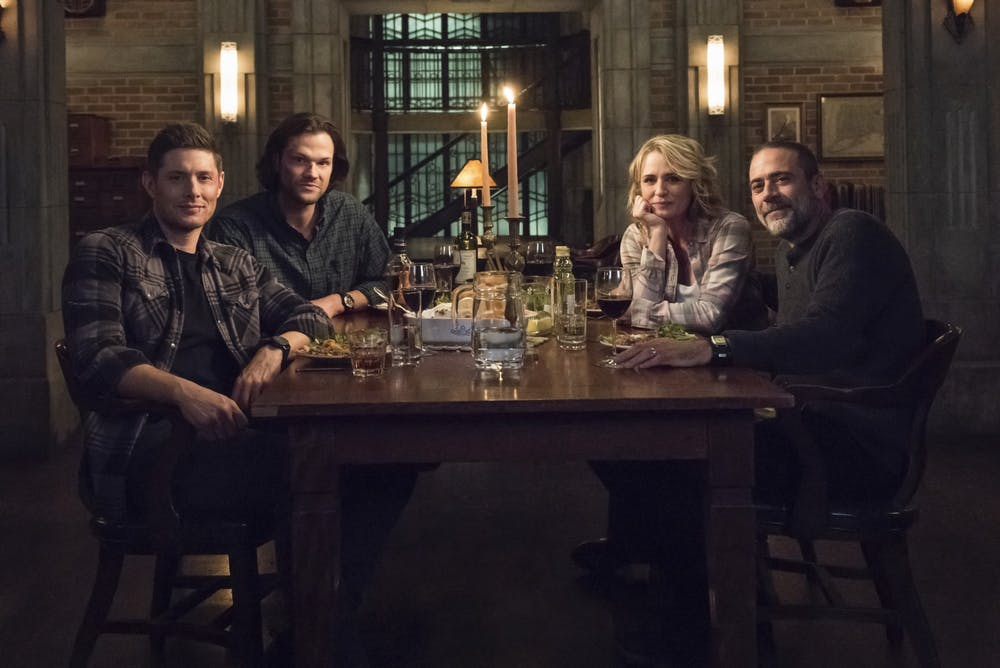 <p>Actors Jensen Ackles, Jared Padalecki, Samantha Smith and Jeffrey Dean Morgan star in the television show &quot;Supernatural.&quot; </p>