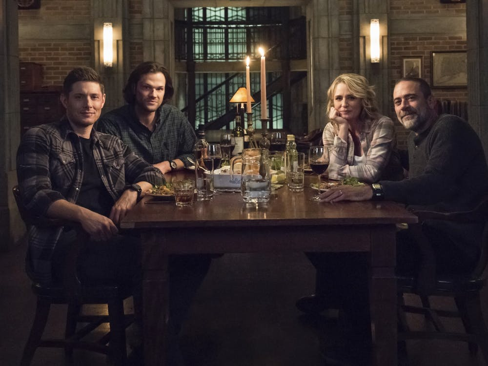 "Actors Jensen Ackles, Jared Padalecki, Samantha Smith and Jeffrey Dean Morgan star in the television show ""Supernatural."""
