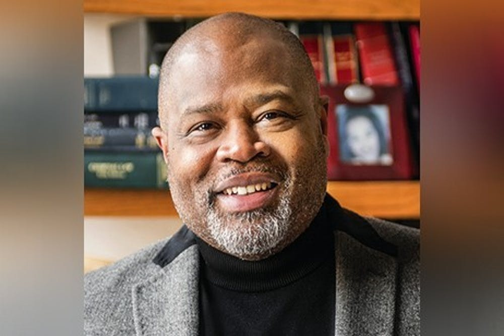 <p>IU Maurer School of Law Professor Kevin D. Brown poses for a photo. Brown is working with a group of lawyers working on a caste discrimination case against Cisco Systems. </p>
