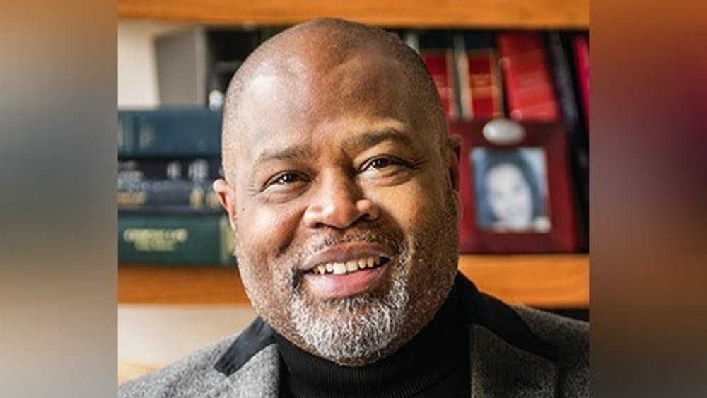 IU Maurer School of Law Professor Kevin D. Brown poses for a photo. Brown is working with a group of lawyers working on a caste discrimination case against Cisco Systems.