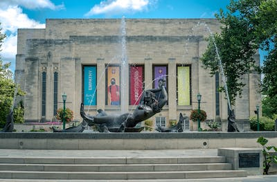 Water flows Aug. 29 at Showalter Fountain. The event has previously taken place on the Fine Arts Plaza around Showalter Fountain, but new accommodations will be made due to the COVID-19 pandemic.