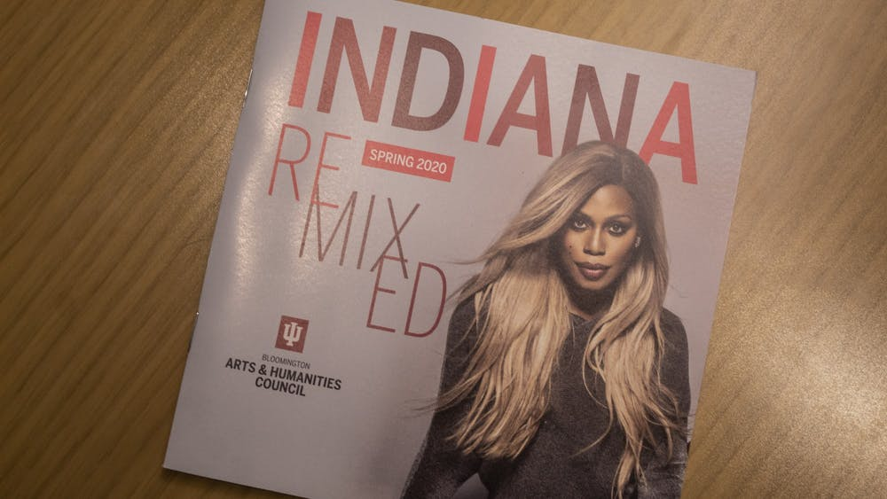 A booklet for Indiana Remixed sits Feb. 5 on a table. Indiana Remixed will feature events including a talk by Prey Taxidermy owner Allis Markham, performances by various IU organizations and multiple art exhibits.