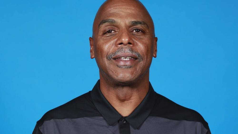 Armond Hill is photographed at Los Angeles Clippers media day on September 24, 2018 at Clippers Training Center in Playa Vista, California. Hill was named IU's Director of Basketball Administration on Wednesday.