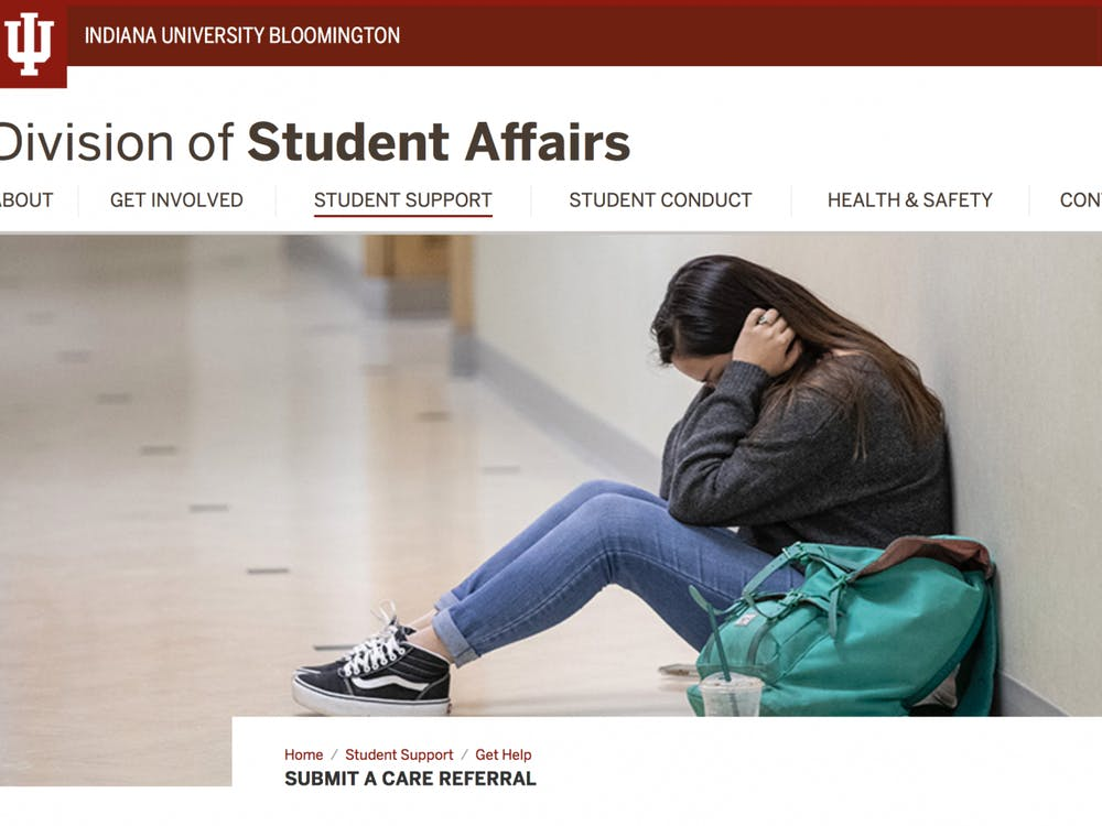 A screenshot shows the Division of Student Affairs website.