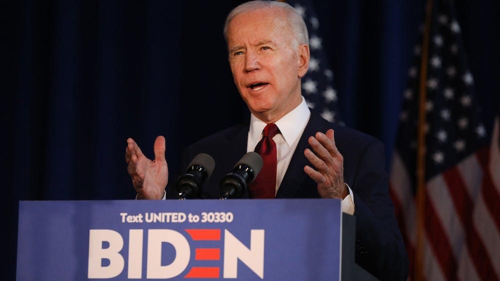 Former Vice President Joe Biden speaks on Jan. 7 in New York. Biden raised nearly $1 million in the fourth quarter of 2019.