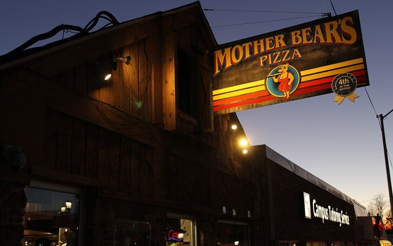 Mother Bear's restaurant teamed up with IU's Feminist Student Association to donate money to the American Civil Liberties Union. Mother Bear's donated $4 from every large pizza sold to someone with a printed coupon this Wednesday.