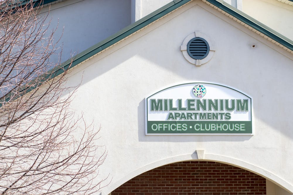 """<p>The Millenium Apartments complex is located at 1200 S. Rolling Ridge Way. A Millenium resident described an encounter with a staff member as """"xenophobic, racial and disrespectful.&quot;</p>"""