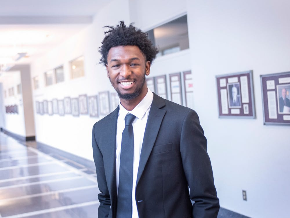 IU sophomore Zachary Harper poses for a photo. Harper is the first IU student to be selected for the Institute for Responsible Citizenship, a prestigious program for African-American men.