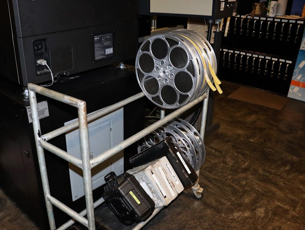 <p>Film reel and projections are stored within the IU Cinema. Barbara Grassia is the technical director, and she is responsible for all technical aspects of the cinema's equipment.</p>