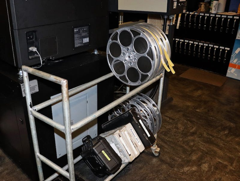 Film reel and projections are stored within the IU Cinema. Barbara Grassia is the technical director, and she is responsible for all technical aspects of the cinema's equipment.