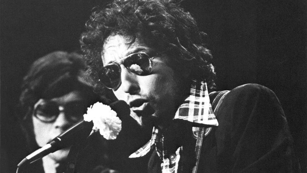 Bob Dylan and The Band performed at Assembly Hall in 1974. Bob Dylan will perform at the IU Auditorium again Oct. 29 with Mavis Staples.