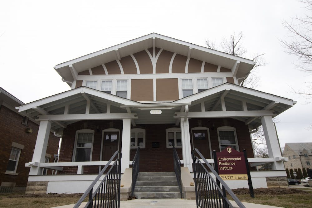 <p>The Environmental Resilience Institute is located at 715 E. 8th St.  IU researchers found that due to increasing temperatures and seasonal droughts the amount of water in Indiana&#x27;s soil and streams may decrease over time according to an IU press release. </p>