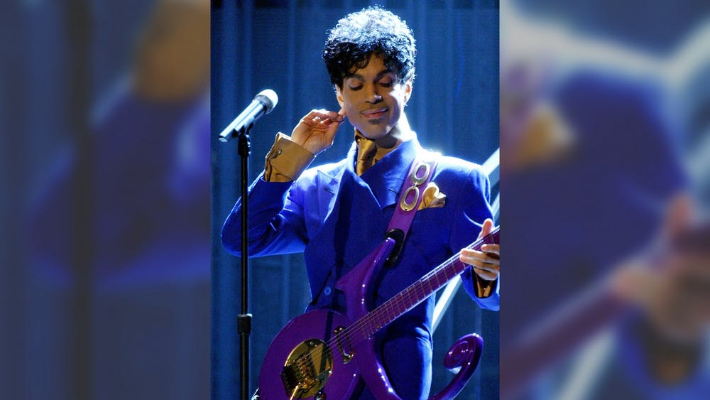 Prince performs during the 46th Annual Grammy Awards show on Feb. 8, 2004, at STAPLES Center in Los Angeles.