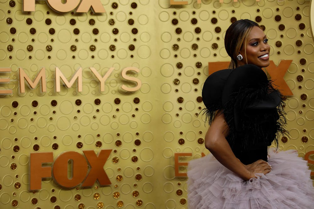 <p>Laverne Cox arrives for the 71st Primetime Emmy Awards on Sep. 22, 2019, at the Microsoft Theater in Los Angeles. Viewers are encouraged to ask questions for the Q&amp;A portion of the event. </p>