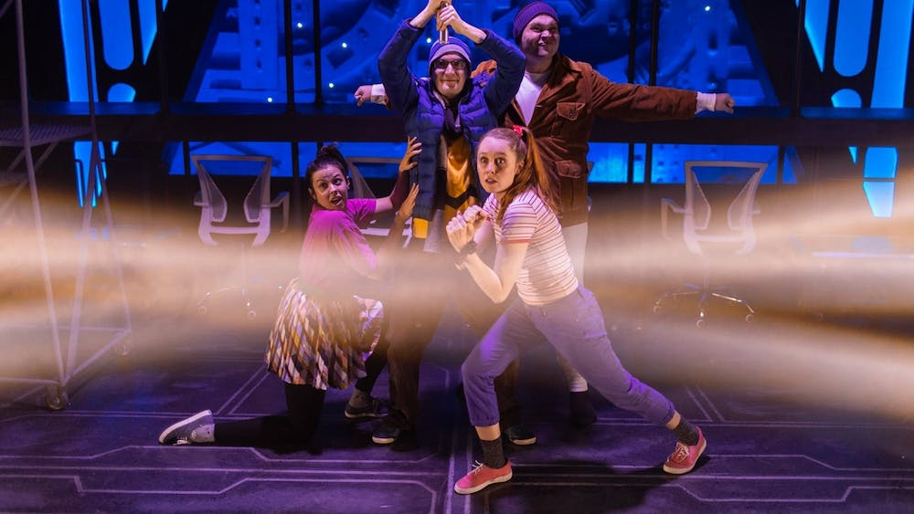 """Actors perform in """"The Jedi Handbook"""" in 2019. The Bloomington Playwrights Project is streaming 25 of its past plays and musicals on BPPFLIX."""