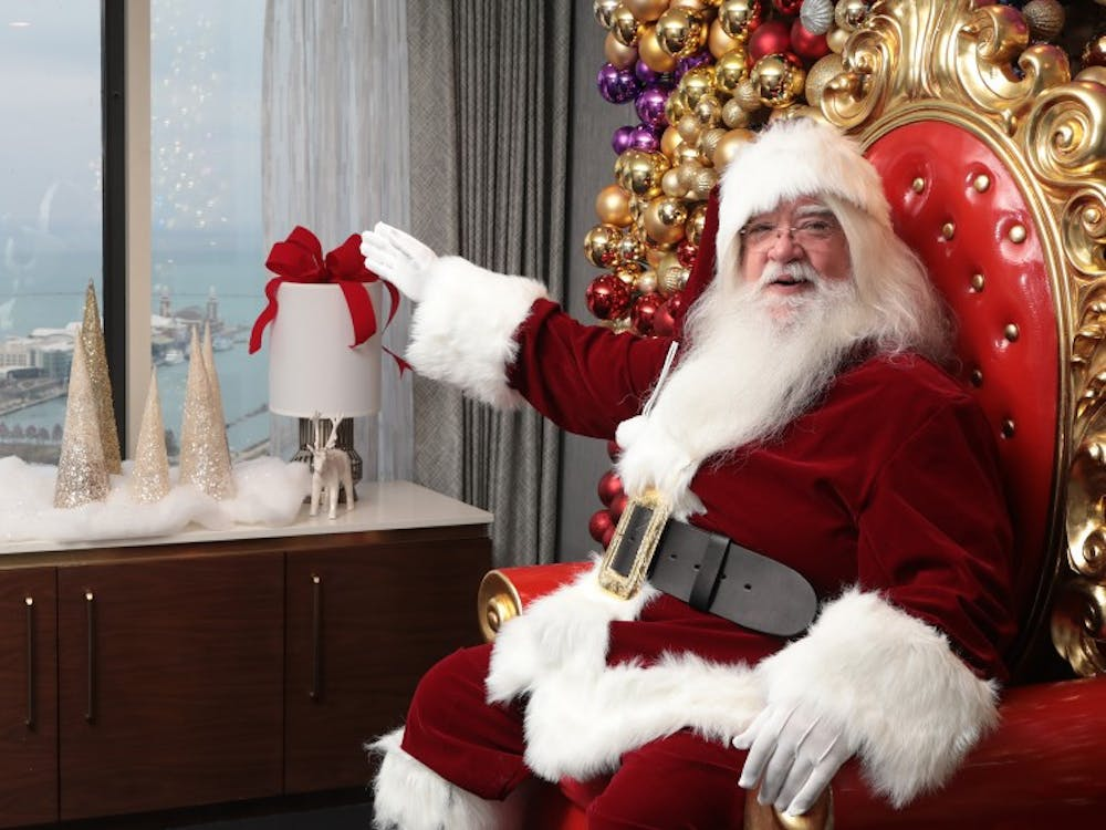 Santa Claus sits on his throne in Chicago on Nov. 16.