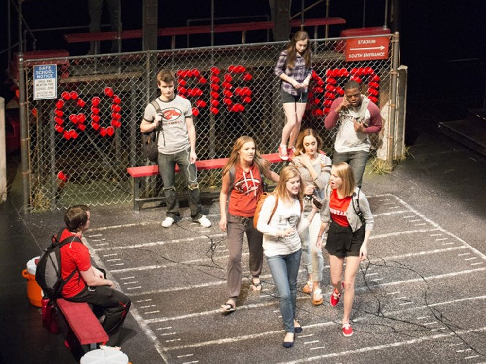 Actors rehearse the IU Theatre production of Good Kids on Tuesday night. The production opens Feb. 6 at 7:30 p.m. in the Wells-Metz Theatre.