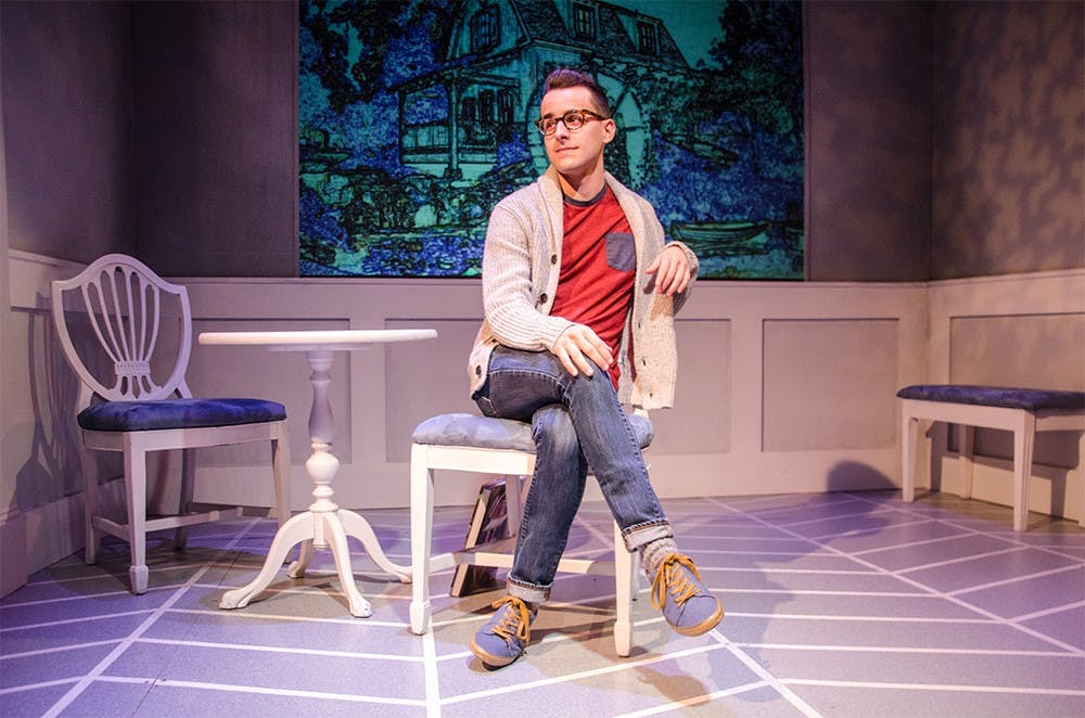 """<p>Remy Germinario acts in Cardinal Stage Company&#x27;s 2015 production of &quot;Buyer &amp; Cellar."""" Cardinal Stage is one of three organizations participating in the Bloomington Theatre Yard Sale.</p>"""