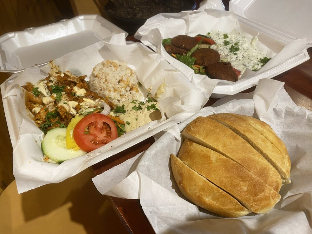 A meal from Bloomington's restaurant Anatolia is pictured. Anatolia is located at 405 E. Fourth St., and offers Turkish and Mediterranean food.