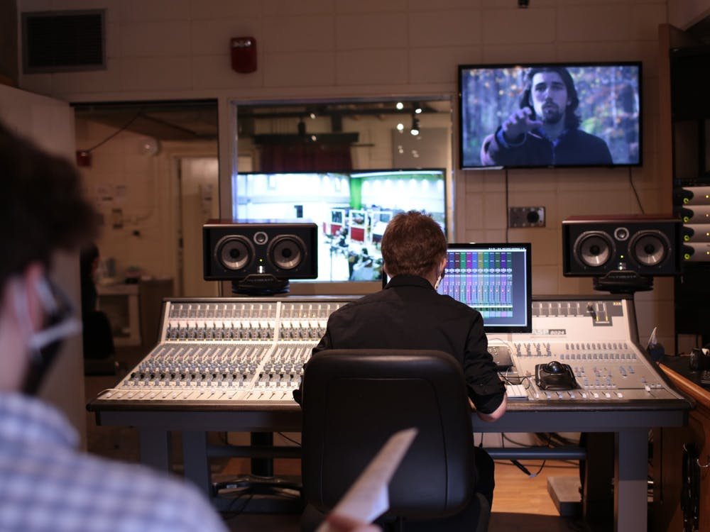 IU students record music and mix sounds for Double Exposure 2021 short film screening. IU's annual Double Exposure film screening will debut 12 student-made short films from 7-7:54 p.m. April 9 over Zoom.