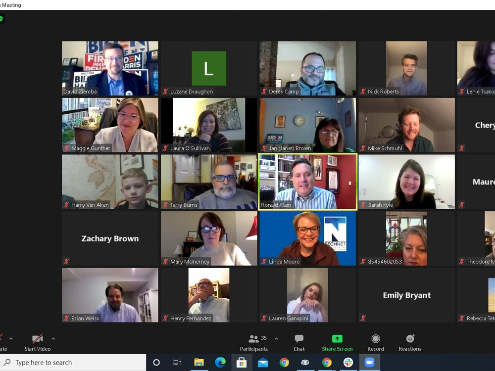 "Ronald Klain, Indiana native and former White House Chief of Staff to the Vice Presidentaff provides a campaign update for former Vice President Joe Biden during the ""Motivational Mondays"" meeting Monday night over Zoom. About 35 individuals were present in the meeting."