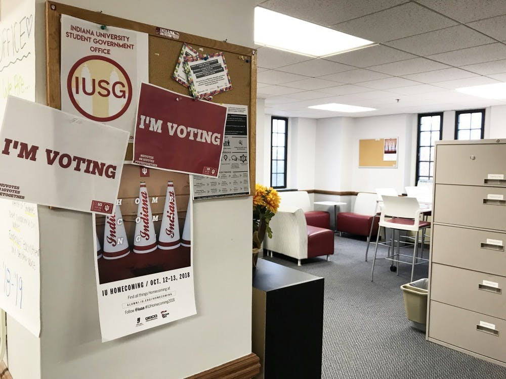 <p>The IU Student Government office is located in the Student Activities Tower of the Indiana Memorial Union. Voting for the IU Student Government election began Thursday morning and will end 10 p.m. Friday night. </p>