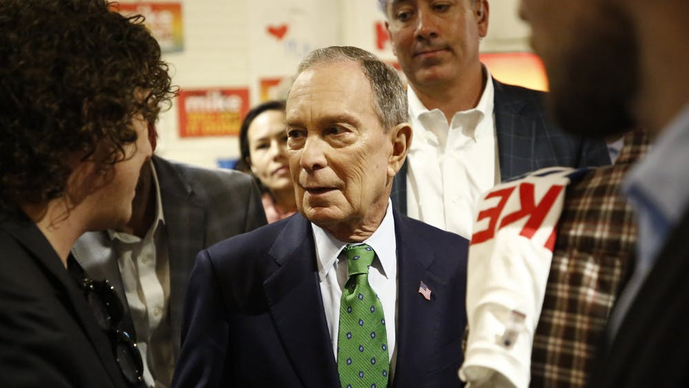 Democratic candidate for president Mike Bloomberg visits Tampa, Florida, for a campaign rally on Jan. 26.