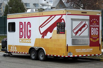 The Big Cheeze food truck is seen Nov. 20 parked outside the Intramural Center. The truck is known for the extra-cheesy flavor it brings to downtown Bloomington.