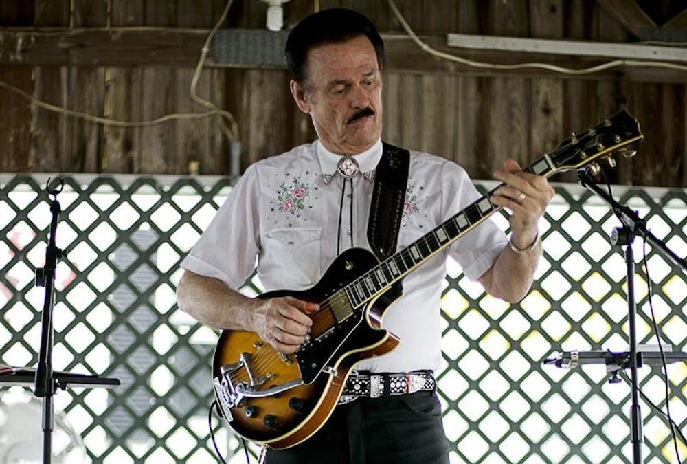 Joe Edwards plays Tuesday evening at the Monroe County Fair. Edwards has opened for performers like Elvis.