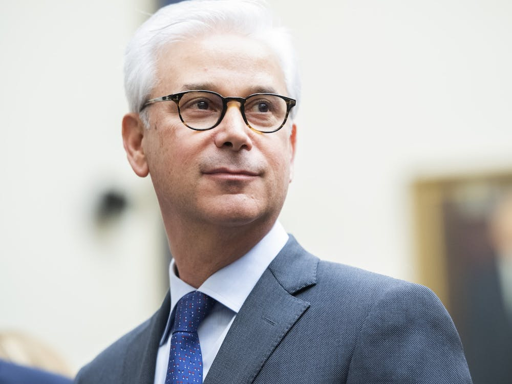 Charles W. Scharf, CEO of Wells Fargo, arrives to testify March 10 during the House Financial Services Committee hearing in Washington, D.C.
