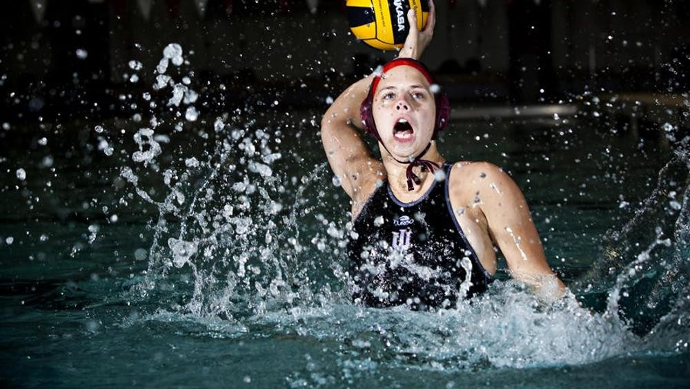 Senior Hanna Eimstad has played water polo since middle school. In high school she was a standout athlete and choose to attend IU to continue her water polo career.