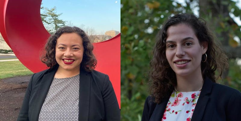 Madeline Garcia, left, and Rachel Aranyi, right, pose for headshots. The IU Student Government Supreme Court decided Thursday to overturn the Election Commission's dismissal of the Defy campaign's complaints against Inspire for its acquisition of student and non-student emails.