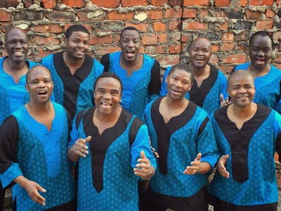 Members of Ladysmith Black Mambazo sing. Ladysmith Black Mambazo, a South African male choral group, will perform at 7 p.m. March 10 at the IU Auditorium.