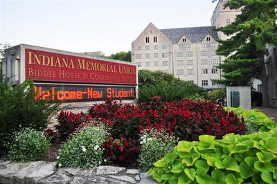 The Indiana Memorial Union is the location of the on-site Biddle Hotel.