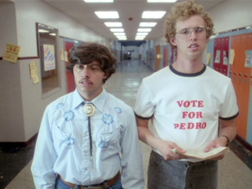 """Jon Heder and Efren Ramirez star in """"Napoleon Dynamite"""", released in 2004. IU Auditorium hosted a screening and cast panel Sept. 23, 2021, with Heder, Ramirez and fellow costar Jon Gries."""