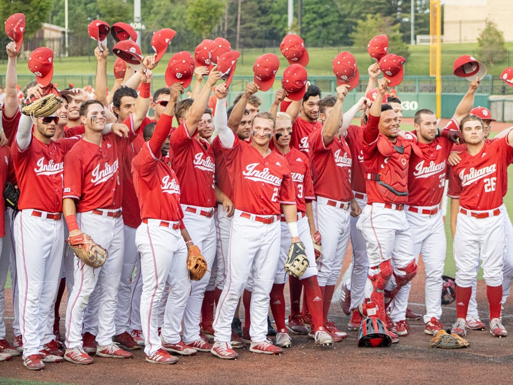 The IU Baseball salutes the friends and family in attendance for the last home game of the season on May 24. IU finished its regular season by dropping two of three games against Maryland