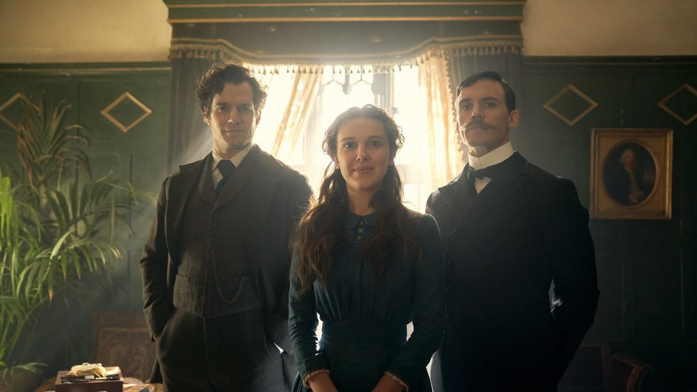 "Henry Cavill, Millie Bobby Brown and Sam Claflin star in Netflix's ""Enola Holmes."""
