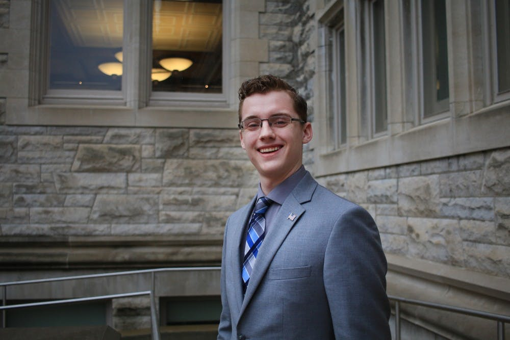 <p>Andrew Guenther, an IU law and public policy graduate, is the only Republican running so far for Bloomington City Council. Guenther serves as the chair of the city's Environmental Commission.</p>