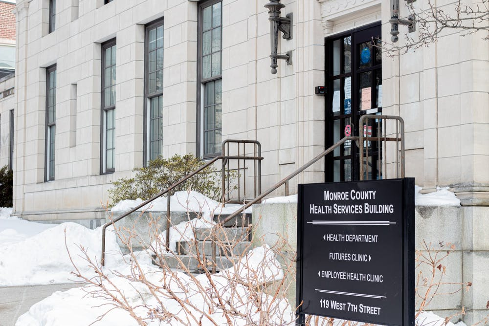 <p>The Monroe County Health Services Building is located at 119 W. Seventh St. The health department announced the website for the Stride Coalition, which will offer resources for people experiencing substance use and mental disorders.</p><p><br/></p>