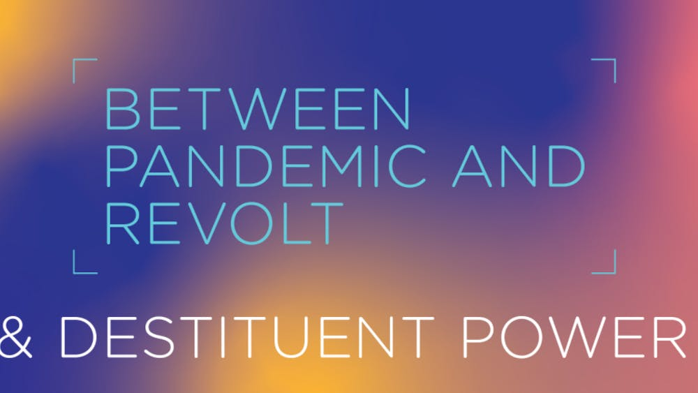 A banner taken from the Destituent Power website for IU's 2020 Critical Ethnic Studies symposium, which will take place Nov. 13 to Nov. 16.