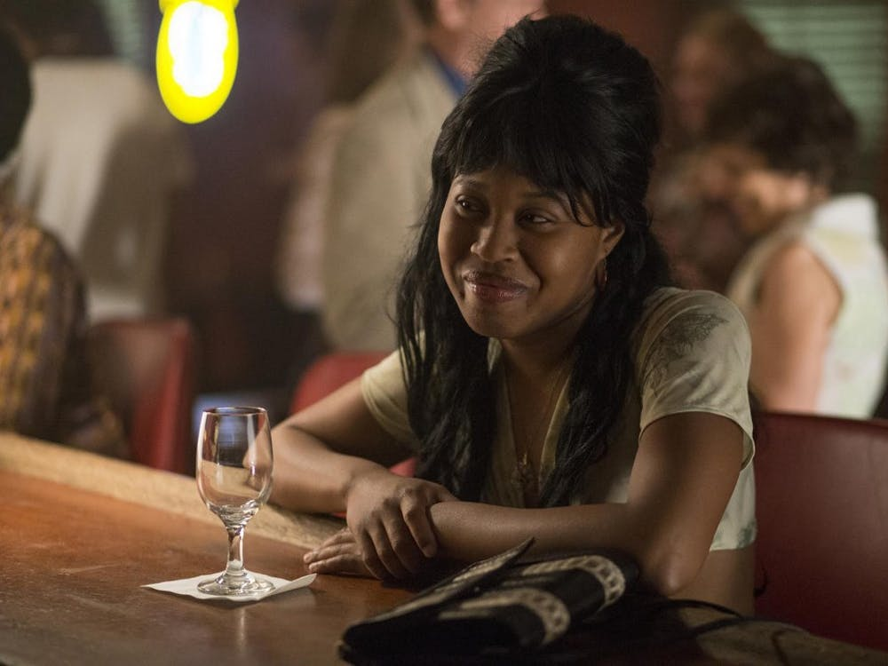 """Dominique Fishback stars in the HBO show """"The Deuce."""" Fishback, who is a Pace University graduate, plays a prostitute named Darlene on the show."""