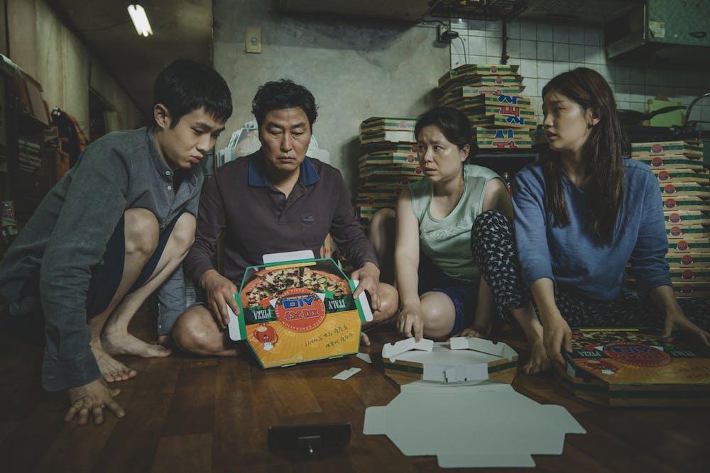 <p>Kim Ki-woo (Choi Woo-sik), Kim Ki-taek (Song Kang-Ho), Kim Chung-sook (Chang Hyae-Jin) and Kim Ki-jung (Park So-Dam) perform in the 2019 movie &quot;Parasite.&quot;  </p>