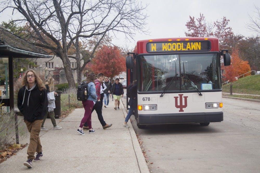Students Get On A Campus Bus Nov 5 On E 7th St Iu Bus Services Are Working Together With A Transportation Planning Firm To Improve The Bus Routes