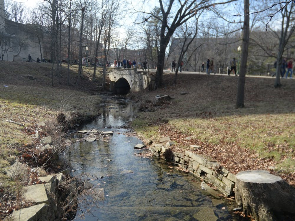 """Jordan River was originally known as """"Spanker's Branch"""". The river was renamed in 1994 after former IU president David Starr Jordan and it winds all through campus."""