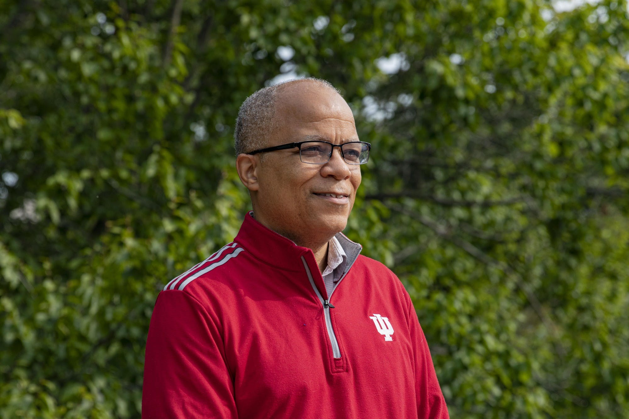 Director of Bias Response Cedric Harris poses for a portrait Sept. 14 at the Indiana Memorial Union. IU students and faculty can reports acts of bias against them to the bias incident response department.
