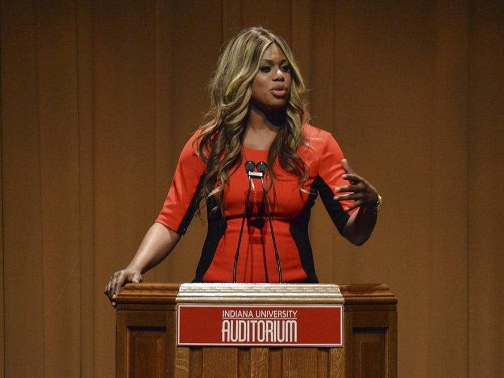 Actress and LGBTQ advocate Laverne Cox spoke during her lecture Jan. 1, 2015, at the IU Auditorium. Cox was scheduled to appear Feb.13 at the auditorium, but the date will be resscheduled.